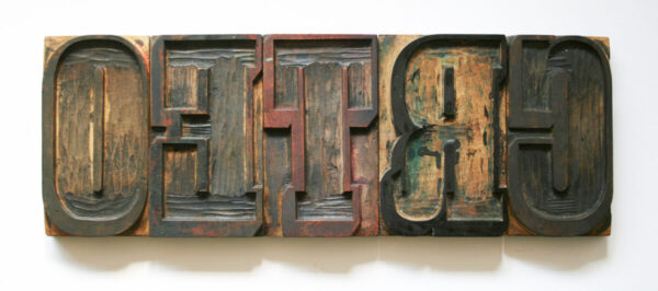Hand finished wood type